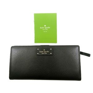 ♠️☘️NEW Kate Spade NY♠️ Leather Wallet Large Stacy